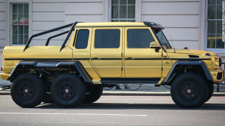 This hefty six-wheel Mercedes is valued at £370,000 ($534,000).