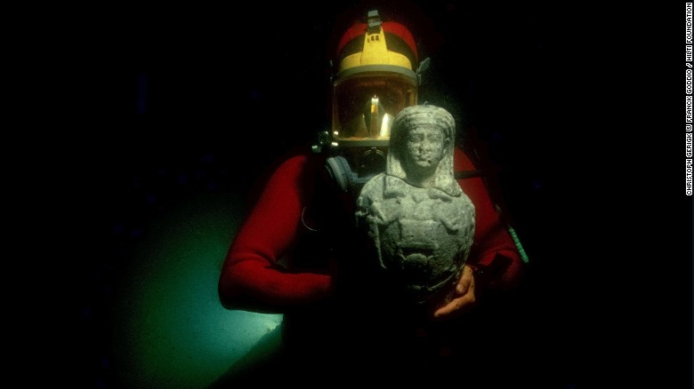 "The ancient Egyptian cities of Canopus and Thonis-Heracleion sat on the seabed of the Abukir Bay for over a thousand years before pioneering archeologist Franck Goddio began excavating in 2001. Now his finds are part of an upcoming exhibition at the British Museum in London: <a href=""http://www.britishmuseum.org/whats_on/exhibitions/sunken_cities.aspx"" target=""_blank"">Sunken Cities: Egypt's Lost Worlds</a>."