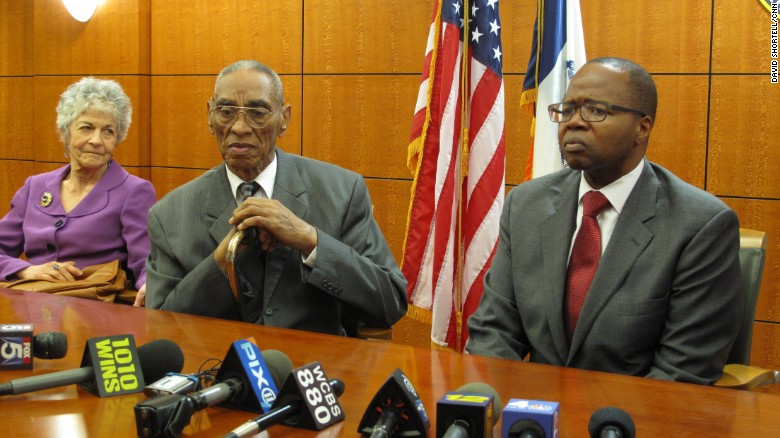 Gatling sat alongside Thompson after the exoneration. Gatling was the 20th person to have a conviction overturned by Thompson's Conviction Review Unit.