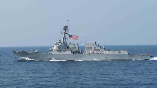 The guided missile destroyer USS William P. Lawrence transits the Philippine Sea earlier this year.