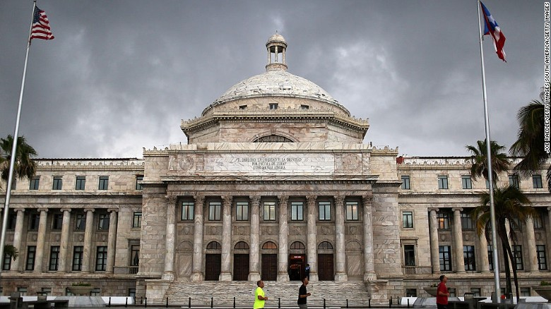 The Puerto Rican Capitol building.