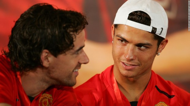 Hargreaves and Ronaldo played together at Manchester United.