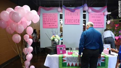 """Instead of a funeral, friends and family were greeted to a """"tea party"""" -- something Julianna loved -- in celebration of her life."""