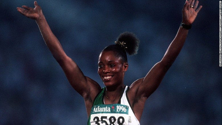 Chioma Ajunwa at the Atlanta games in 1996.