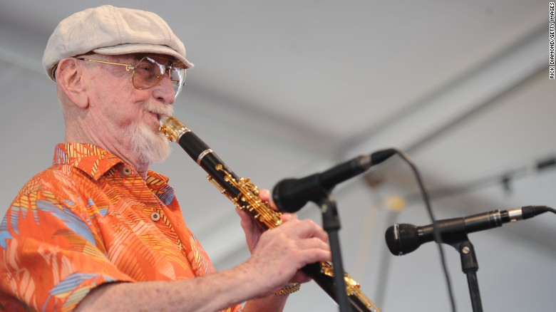 Jazz Artist Pete Fountain performs in 2009 at the New Orleans Jazz & Heritage Festival.