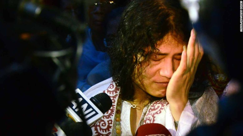 Indian rights activist Irom Sharmila has been on hunger strike for 16 years.