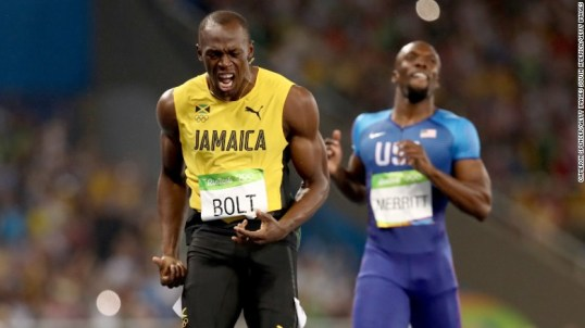 Usain Bolt of Jamaica wins the men's Olympic 200m final in Rio.