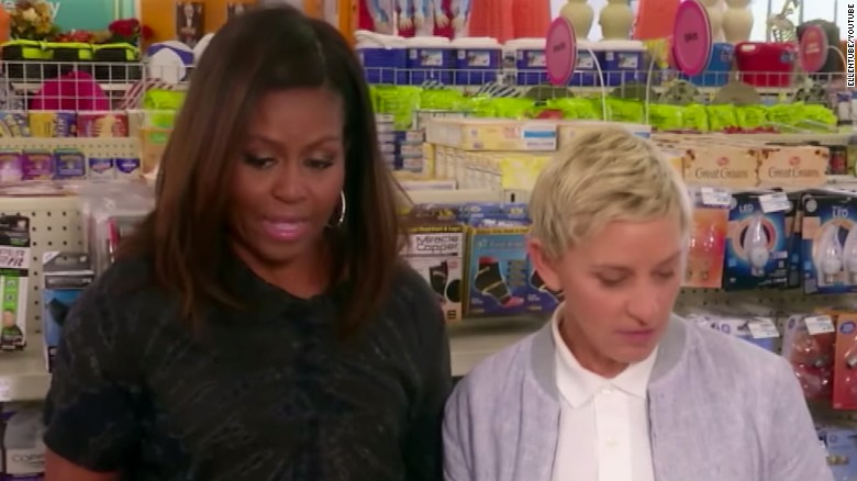 Image result for Ellen DeGeneres goes shopping with FLOTUS