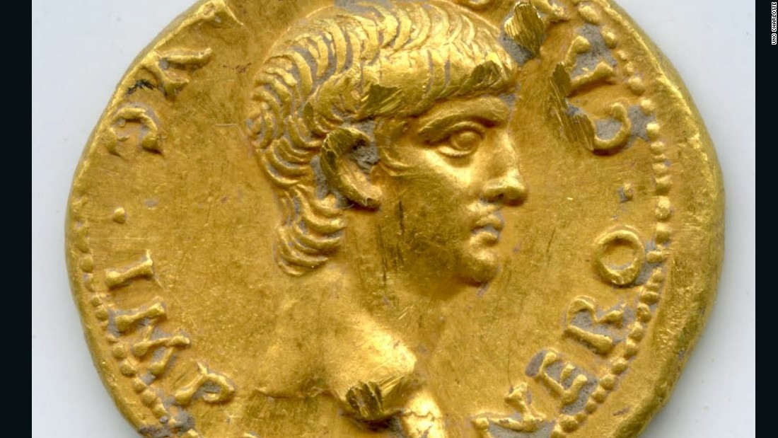 Emperor Nero gold coin from Jerusalem