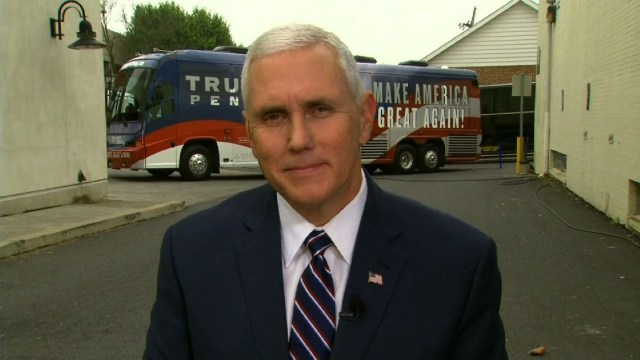 Donald Trump's running mate, Indiana Gov. Mike Pence
