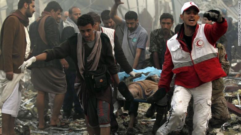 Scores killed in airstrikes on Yemen funeral