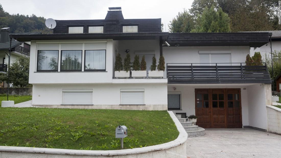La familia de Melania todavía tiene una casa en Eslovenia, pero raras veces se les mira en la propiedad.