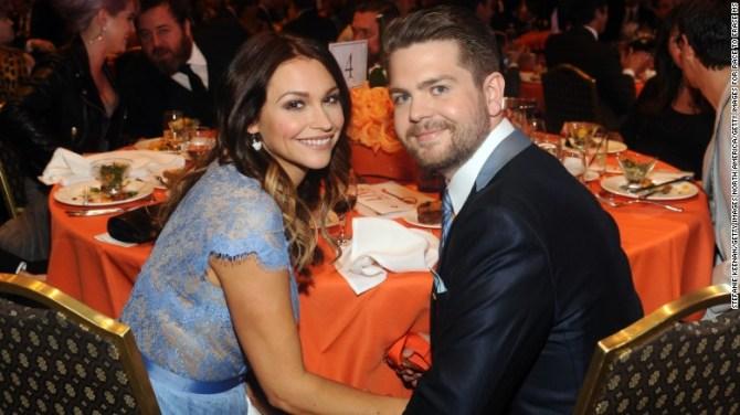 Jack Osbourne and wife Lisa Stelly in 2013.