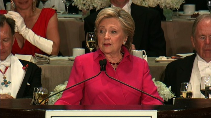 Hillary Clinton's entire speech at the Al Smith dinner