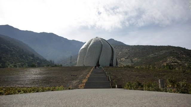 The Temple seamlessly blends into its organically formed backdrop, the Andes.