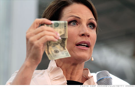 GOP presidential hopeful Michele Bachmann blamed President Obama for increasing gas prices and said she would change that.