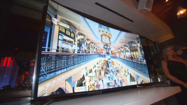 Samsung's new bendable TVs