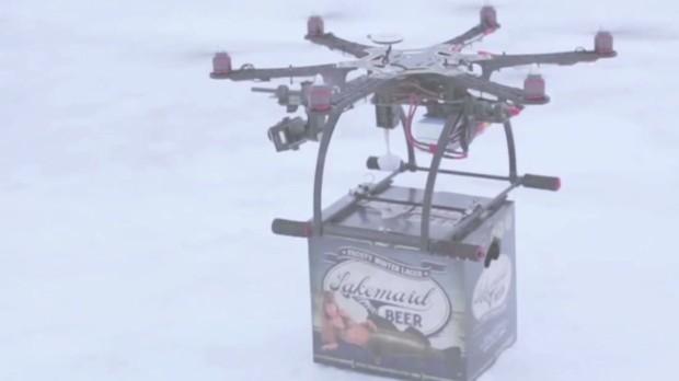 Commercial drones start test flights