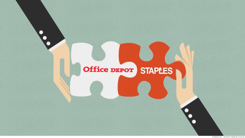staples office depot merger