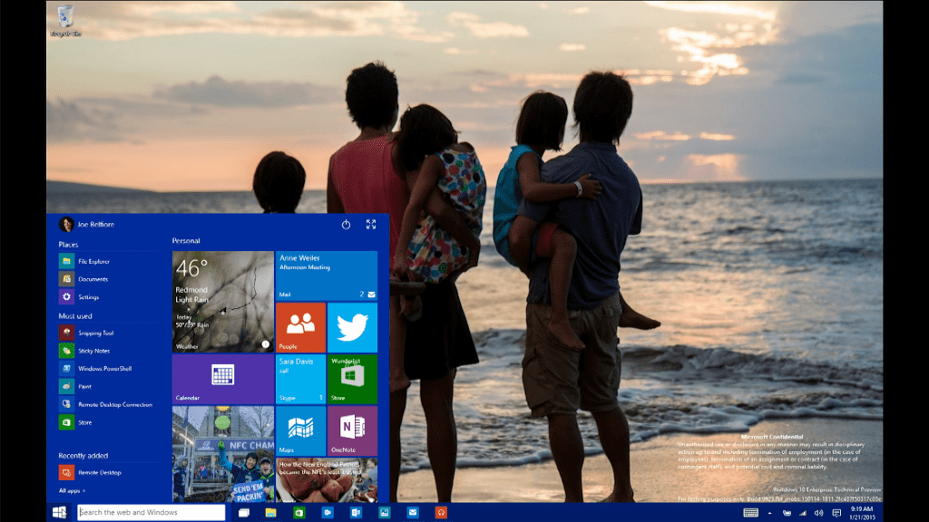 Microsoft Windows 10 in 90 seconds
