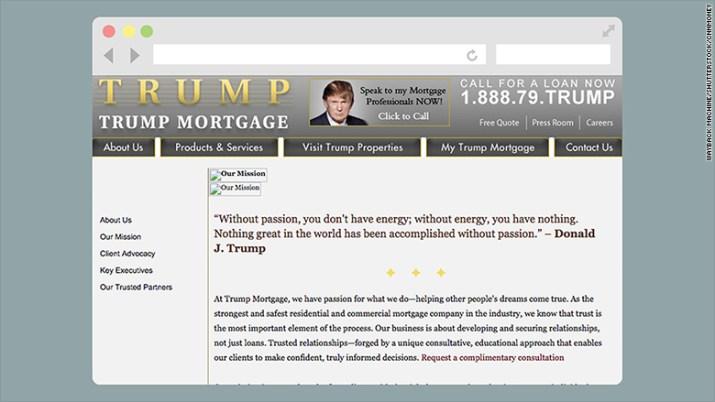trump mortgage website