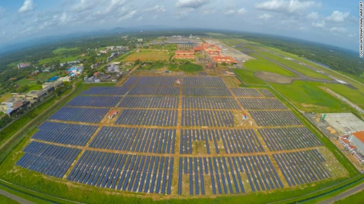 india cochin airport solar power