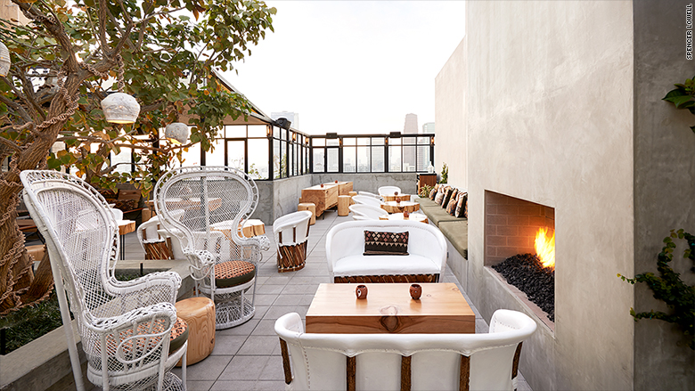 Upstairs Rooftop Lounge At The Ace Hotel, Los Angeles