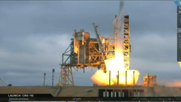 SpaceX launches historic takeoff
