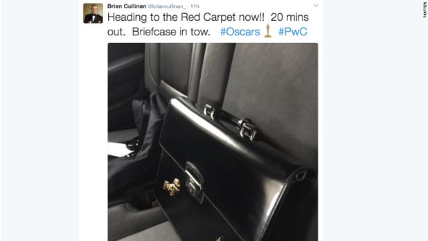 Brian Cullinan Oscar Tweet