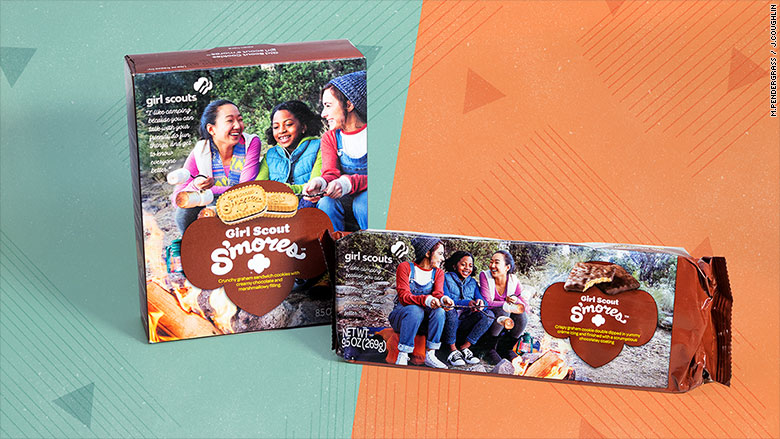 girl scout cookie boxes smores
