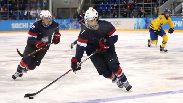 US women's hockey scores better pay, hits the ice