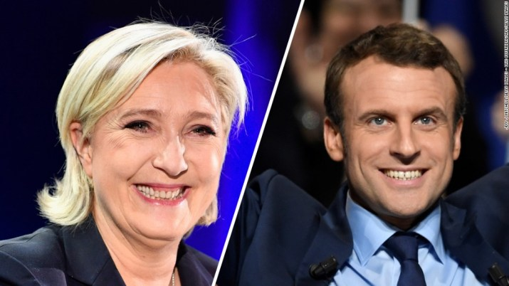 Investors cheer French election results