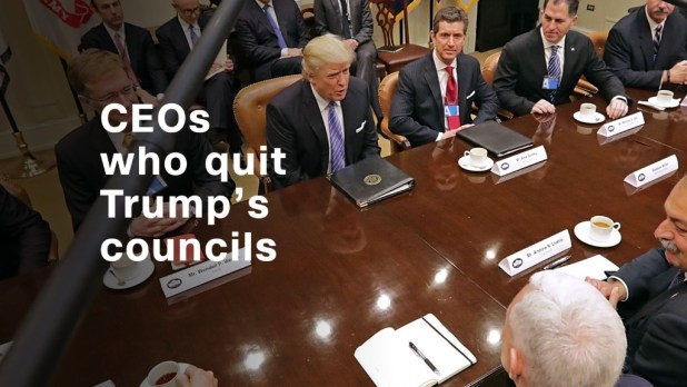 The CEOs who quit Trump's business councils