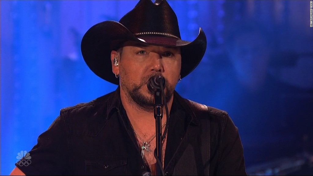Image result for Jason Aldean opens 'SNL' with Vegas tribute