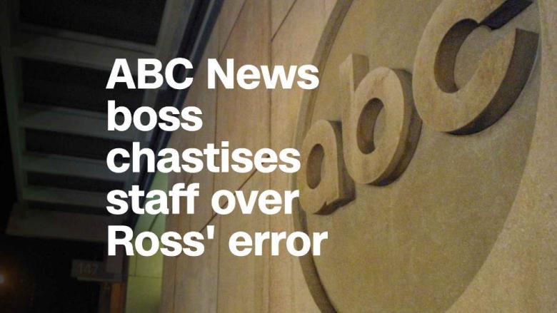 ABC News boss excoriates staff over Ross' error