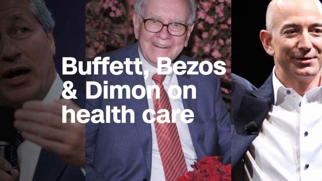 Buffett, Bezos & Dimon try to tackle health care