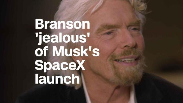 Richard Branson is 'a little jealous' of Musk's launch
