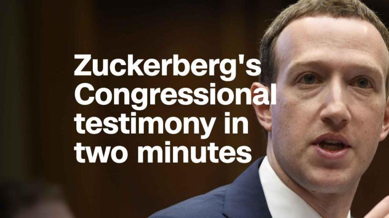 Mark Zuckerberg's House testimony in two minutes
