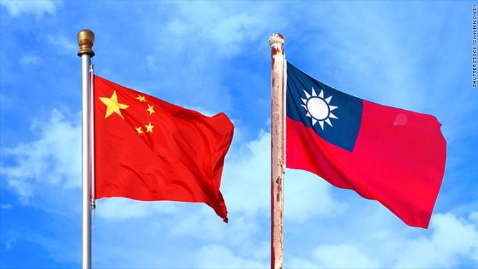 taiwan china flags