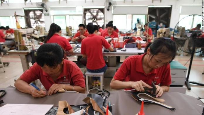 china leather shoe factory