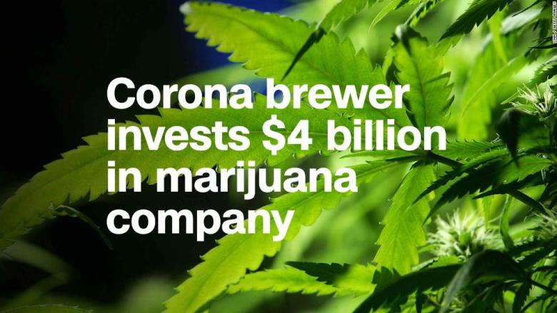Corona, Modelo brewer invests $4 billion in marijuana company