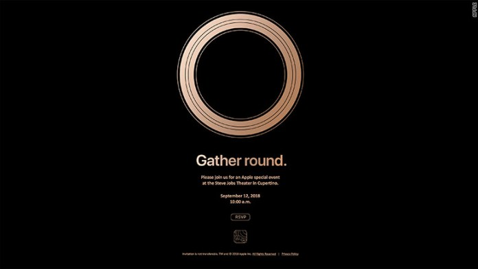 apple gather round invitation