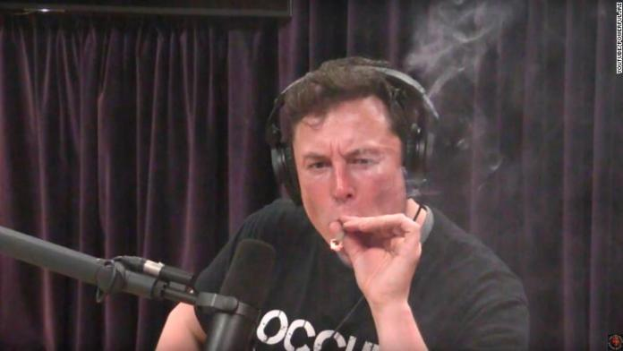 elon musk joe rogan smoking