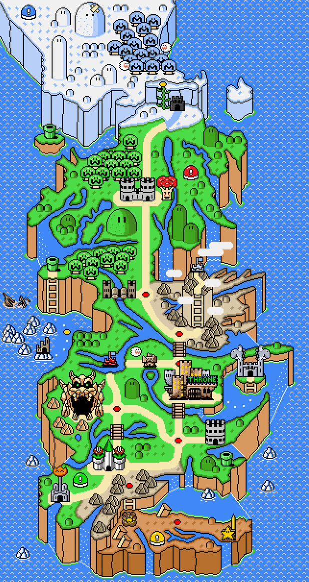 World Game Thrones Map