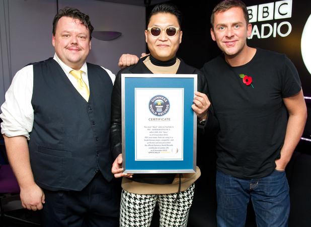 Psy with world record