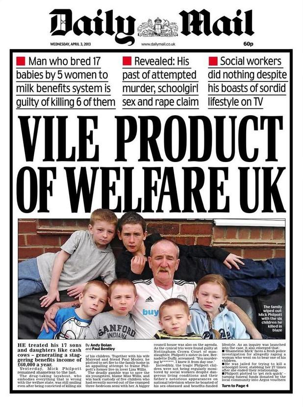 Daily Mail Welfare UK cover