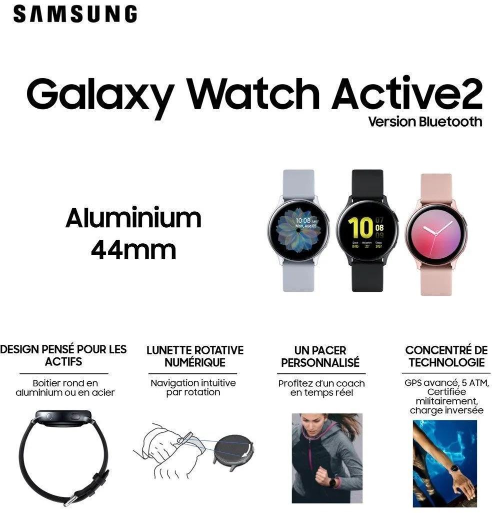 Samsung Galaxy Watch Active 2 44mm Aluminium Rose Achat Montre