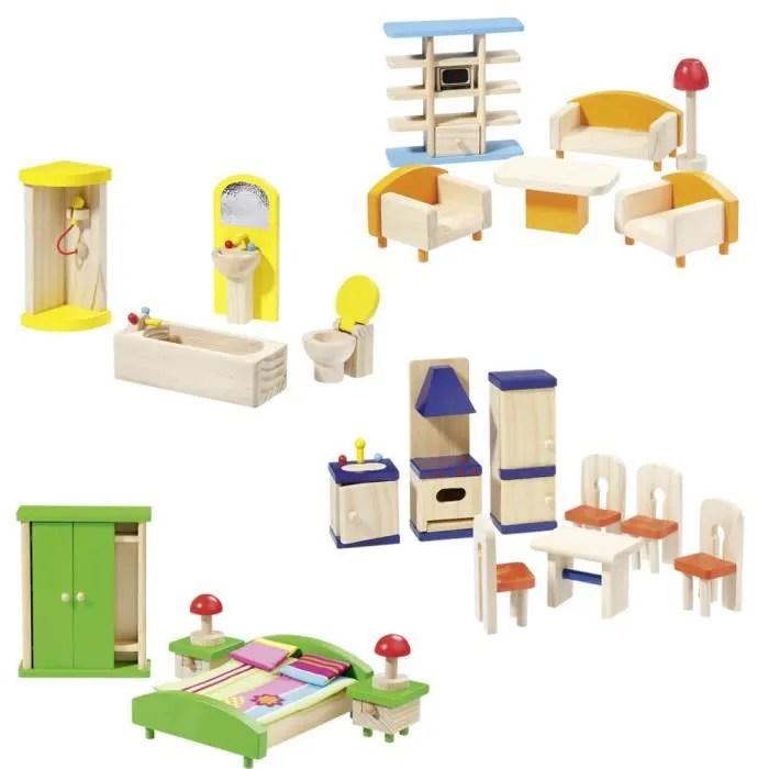 howa set de meubles pour maison de poupees avec 25 pieces 17300