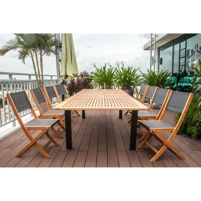 FINLANDEK Ensemble Table Extensible De Jardin 200 250