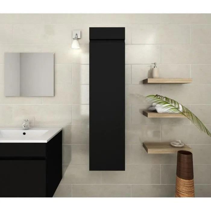 luna colonne de salle de bain l 30 cm noir mat